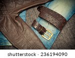 youth clothing  leather jacket  ... | Shutterstock . vector #236194090
