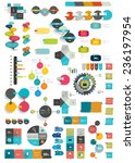 collections of info graphics... | Shutterstock .eps vector #236197954