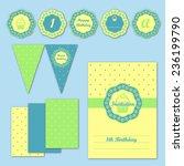 children party decoration... | Shutterstock .eps vector #236199790
