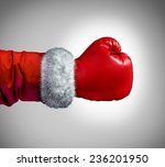 santa clause boxing glove... | Shutterstock . vector #236201950
