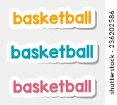 vector logos and lettering on a ... | Shutterstock .eps vector #236202586