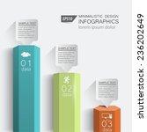 3d columns digital data  ... | Shutterstock .eps vector #236202649