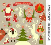 christmas ornaments and... | Shutterstock .eps vector #236204629