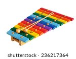 Rainbow Colored Wooden Toy...