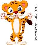 cute tiger cartoon  | Shutterstock .eps vector #236221783
