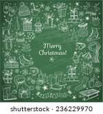 christmas card with hand drawn... | Shutterstock .eps vector #236229970