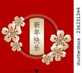 chinese new year background... | Shutterstock .eps vector #236231344