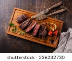 sliced medium rare grilled beef ... | Shutterstock . vector #236232730