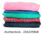 Stack Of Five Types Of Clothes...
