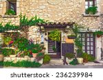 beautiful old street  alpine...   Shutterstock . vector #236239984