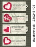 valentines  labels with ... | Shutterstock .eps vector #236245408