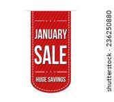 january sale banner design over ... | Shutterstock .eps vector #236250880