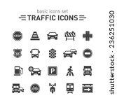traffic icons set.