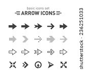 arrow icons set. | Shutterstock .eps vector #236251033