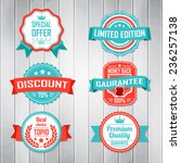 vintage labels template set.... | Shutterstock .eps vector #236257138
