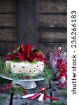 christmas cake with a christmas ... | Shutterstock . vector #236266183