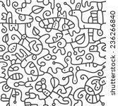 abstract vector seamless... | Shutterstock .eps vector #236266840