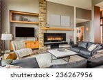 furnished living room in luxury ... | Shutterstock . vector #236267956