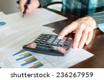 female accountant checking... | Shutterstock . vector #236267959