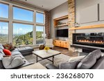 furnished living room with view ... | Shutterstock . vector #236268070