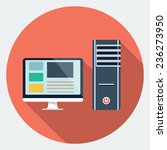 vector computer desktop icon | Shutterstock .eps vector #236273950