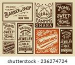 old advertisement designs  ... | Shutterstock .eps vector #236274724