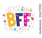 bff   best friends forever | Shutterstock .eps vector #236275594