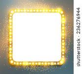 shining retro square banner. ... | Shutterstock .eps vector #236276944