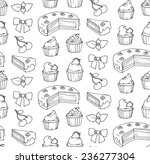 cakes sketch seamless pattern.... | Shutterstock .eps vector #236277304