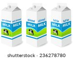 milk carton with screw cap  ... | Shutterstock .eps vector #236278780