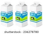 milk carton with screw cap  ... | Shutterstock .eps vector #236278780