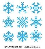 snowflakes set. illustrations.... | Shutterstock . vector #236285113