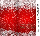 christmas and new year greeting ... | Shutterstock . vector #236289529