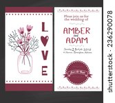 wedding invitation in vintage... | Shutterstock .eps vector #236290078