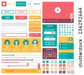ui flat design web elements