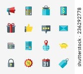business and commerce icon set... | Shutterstock .eps vector #236292778
