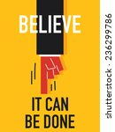 word believe it can be done | Shutterstock .eps vector #236299786