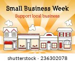 small business week  main... | Shutterstock .eps vector #236302078
