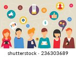 social network and teamwork... | Shutterstock .eps vector #236303689