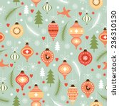 christmas and new year's... | Shutterstock .eps vector #236310130