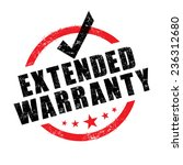 stamp of extended warranty sign ... | Shutterstock .eps vector #236312680