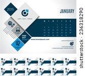 vector calendar template 2015 ... | Shutterstock .eps vector #236318290