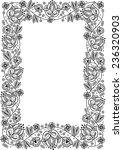 fairy tale flower frame. retro  ... | Shutterstock .eps vector #236320903