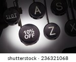 typewriter with special buttons ... | Shutterstock . vector #236321068