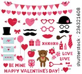 valentine's day vector set  ... | Shutterstock .eps vector #236321608