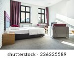 Stock photo beauty hotel room interior with violet design 236325589