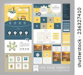 flat style one page website...