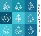 set of water symbols and signs  ... | Shutterstock .eps vector #236328166