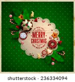 christmas  frame with christmas ... | Shutterstock .eps vector #236334094