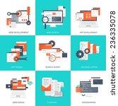 vector illustration. flat... | Shutterstock .eps vector #236335078